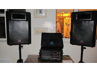 Full set of stage P.A.Equipment to suit new or existing band. NOW AT A REDUCED PRICE £400.00 o n o
