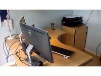 Sven Christensen Corner Desk & Pedestal