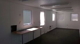 Porta-cabin self contained office close to Cheltenham in the grounds of office complex.