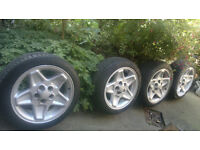 "18"" Land Rover Mondial Alloys x4 + Near New General Tyres 225/45 R18 + Adaptors 5x112 to 5x120, 15mm"