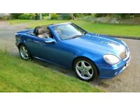 Mercedes SLK 320 3.2 V6 Auto in Lazulite Blue with 2-tone Blue Leather