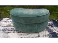 Ex-display Green Fabric Material Half-moon Footstool.