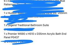 White acrylic bath side panel and end panel Victoria Plumbing