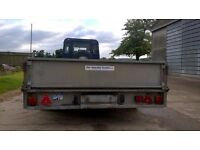 "Ifor Williams LM126 12ft x 6ft6"" 3500kg tandem axle, drop side trailer."