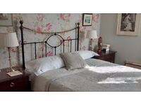 John lewis black and brass cast iron double bed