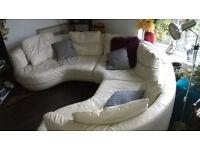 XL Italian Leather Designer Natuzzi Circular Sofa