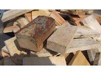 Firewood Dry offcuts & blocks £1 bag