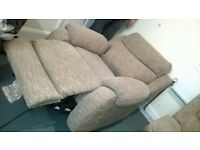 2 seater and 1 seater recliner sofa