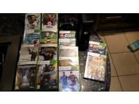 Xbox 360 plus kinect, 2 wirless controllers and 15 games