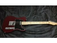 Fender mexican telecaster guitar (wine red/purple)