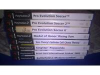 8x PS 2 GAME BUNDLE JOB LOT (as listed) Games Untested