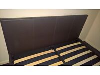 SOLD S.T.C kingsize leather effect bed base £50ono