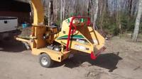 wood chipper for hire