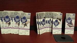 Old Leaf ticket stubs from Maple Leaf Gardens