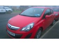 red vauxhall corsa 1.3 low mileage,nice condition economical and low insurance. £0 tax