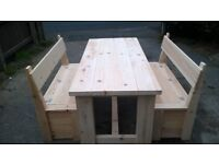 HAND PRODUCED BEDS,TV UNIT,DRESSERS,DINING/COFFEE TABLES,CHAIRS,PATIO/GARDEN BENCHES FROM £49 LOOK