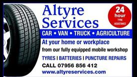 Tyres fitted Fife
