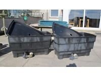WATER TANKS LARGE - 50 GALLONS WITH LIDS (FISH POND FILTER) - FREE