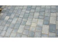 Block paving. College stone 50mm almost 15 square metres
