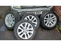 "BMW E46 3 SERIES ALLOYS 16"" ALLOYS GOOD CONDITION TYRES POOR"