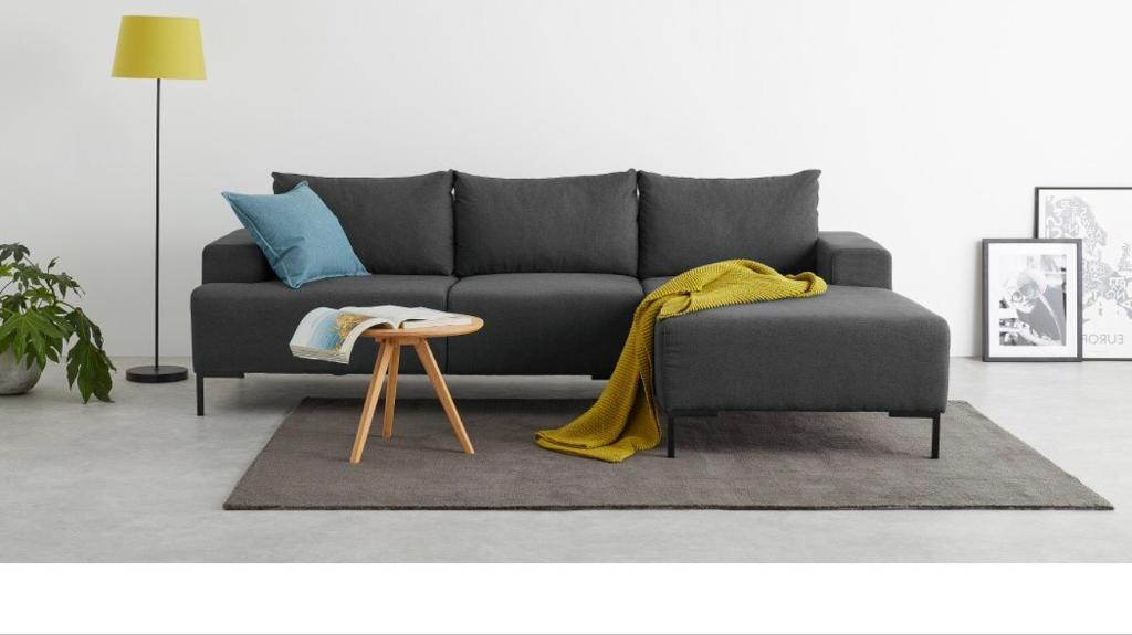 Awesome Made Essentials Oskar Right Hand Corner Chaise End Sofa In Shetland Slate Grey In Walthamstow London Gumtree Inzonedesignstudio Interior Chair Design Inzonedesignstudiocom