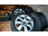 Seat VW Alloy Wheels, 16 inch, 205/55/16 tyres