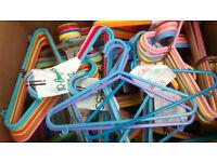 Box of kids plastic hangers