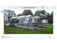 Outwell Montana 6, Awning Extension,Footprint and Carpet