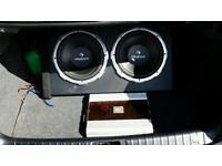 JBL Amp + 2 Bass Speakers