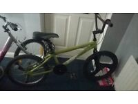 Green boy's bike for those between 5 and 15 years old