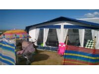 Used Bradcot awning and new tall annexs .size to fit 1020m/33'6 strong poles and pegs supplied