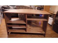 IKEA Leksvik Rustic Pine COrner TV Unit