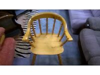 Solid Pine Captains Chair in Great Condition