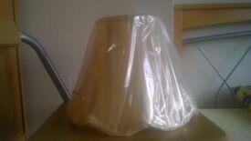 Scallop table lamp shade, 27cm diameter, Gold-cream, new