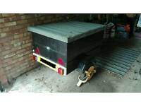Trailer approx 3 x 4ft, inc spare wheel & wheel clamp