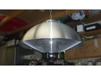 FIREFLY 2.1KW CEILING MOUNTED SILVER HALOGEN ELECTRIC INFRARED PATIO HEATER 3 HEAT SETTINGS &LIGHT