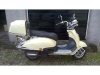 """Retro style """"Tommy"""" 125cc 4-stroke Scooter"""