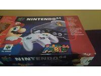 Nintendo 64 Super Mario 64 Edition Boxed Console bundle
