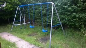 used in good condition three garden swing.