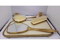 Vintage Lissco Art Deco style Bedroom Dressing Table Set with Removable Brushes