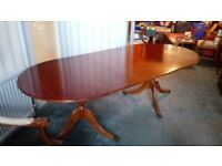 Yew Wood Extending Dining Table