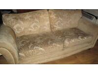 four seat sofa, light yellow colour.