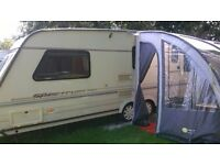 Prestina 260 Caravan Porch Awning with a heavy duty breathable groundsheet