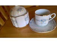 Alba Iulia porcelain coffee cups & sugar bowl