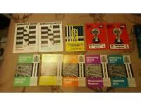 Job lot of football programmes