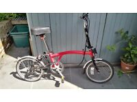 Brompton folding bike M3L three speed