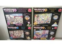 WASGIJ JIGSAW PUZZLES. HIGH QUALITY. USED. VERY GOOD CONDITION