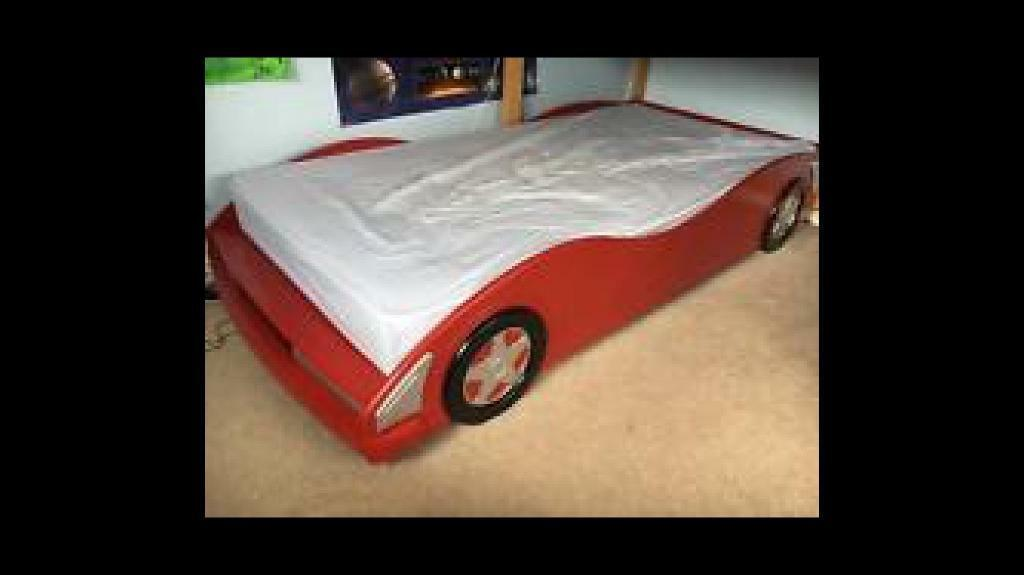 Kids racing car bed full size single