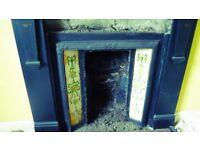 Vintage slate fireplace