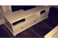 White IKEA TV unit with three drawers MUST GO ASAP